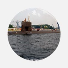 uss drum small poster Round Ornament