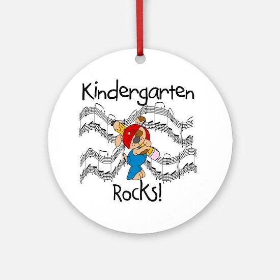 Kindergarten Rocks Ornament (Round)