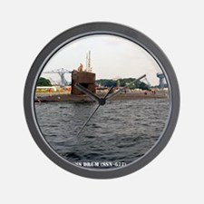 uss drum small poster Wall Clock