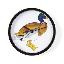 Merry Mallard Wall Clock