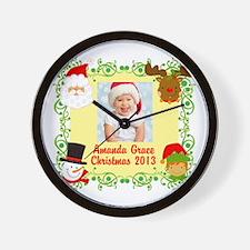 Customize Baby's Christmas Wall Clock