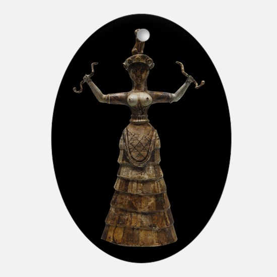 Minoan Snake Goddess Oval Ornament