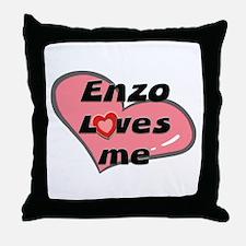enzo loves me  Throw Pillow