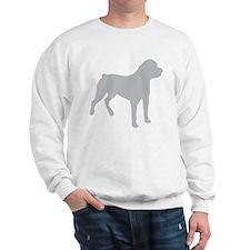 Rottweiler Silhouette Sweatshirt