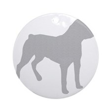 Rottweiler Silhouette Round Ornament
