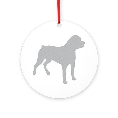 Rottweiler Silhouette Round Ornament