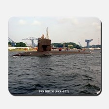 uss drum note card Mousepad