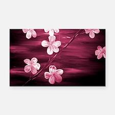 Cherry Blossom Night Shadow Rectangle Car Magnet
