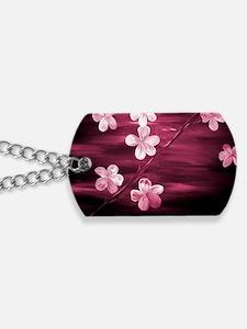 Cherry Blossom Night Shadow Dog Tags