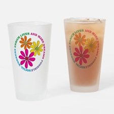 SOCIAL WORKER CIRCLE DAISIES Drinking Glass