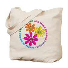 SOCIAL WORKER CIRCLE DAISIES Tote Bag