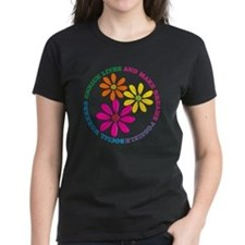 SOCIAL WORKER CIRCLE DAISIES Tee