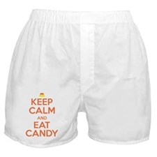 Keep Calm and Eat Candy Boxer Shorts