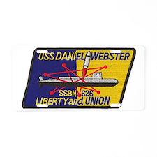 uss daniel webster patch tr Aluminum License Plate