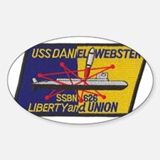 uss daniel webster patch transparen Decal