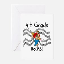4th Grade Rocks Greeting Cards (Pk of 10)
