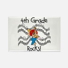 4th Grade Rocks Rectangle Magnet (10 pack)