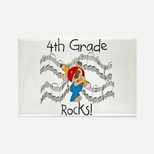 4th Grade Rocks Rectangle Magnet