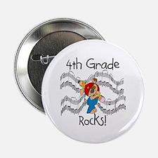 "4th Grade Rocks 2.25"" Button (100 pack)"