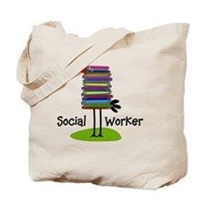 Social Worker Bird Books Tote Bag