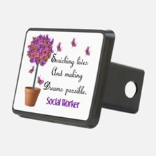 Social worker butterfly tr Hitch Cover