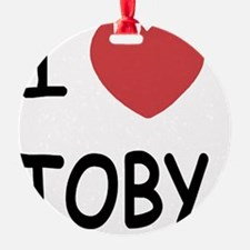I heart TOBY Ornament