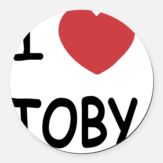 I heart TOBY Round Car Magnet