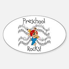Preschool Rocks Oval Decal