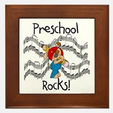 Preschool Rocks Framed Tile