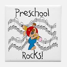 Preschool Rocks Tile Coaster