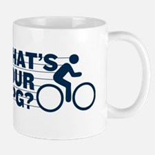 WHATS YOUR MPG? navy Mug