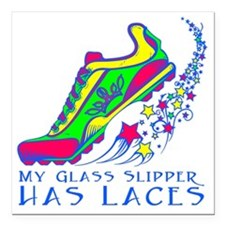 "Running Shoe Square Car Magnet 3"" x 3"""