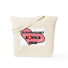 emmanuel loves me Tote Bag