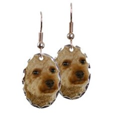 Close-up of a toy poodle Earring