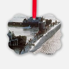 uss francis scott key note card Ornament