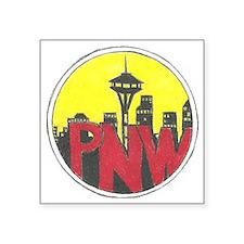 "PNW Logo Square Sticker 3"" x 3"""