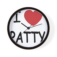 I heart PATTY Wall Clock