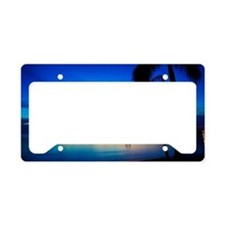 Jamaican Beach, Sunset License Plate Holder
