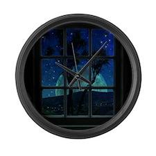 Night view Large Wall Clock