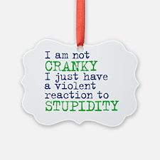 cranky Ornament