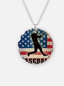 Grunge Baseball Necklace