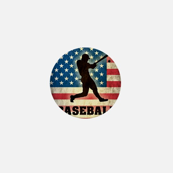 Grunge Baseball Mini Button