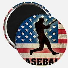 Grunge Baseball Magnet