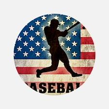 """Grunge Baseball 3.5"""" Button"""