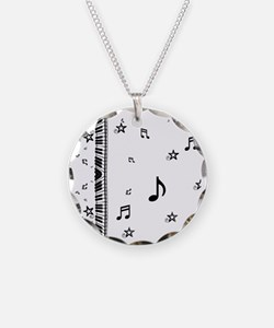 Piano and Music Notes Necklace