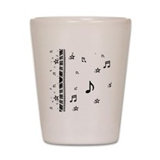 Piano and Music Notes Shot Glass
