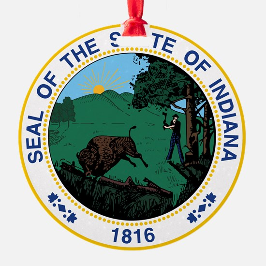 Indiana State Seal Ornament