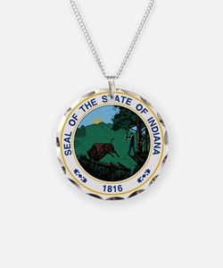 Indiana State Seal Necklace