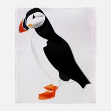 Pretty Puffin Throw Blanket