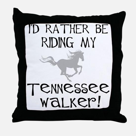 Rather-Tennessee Walker Throw Pillow